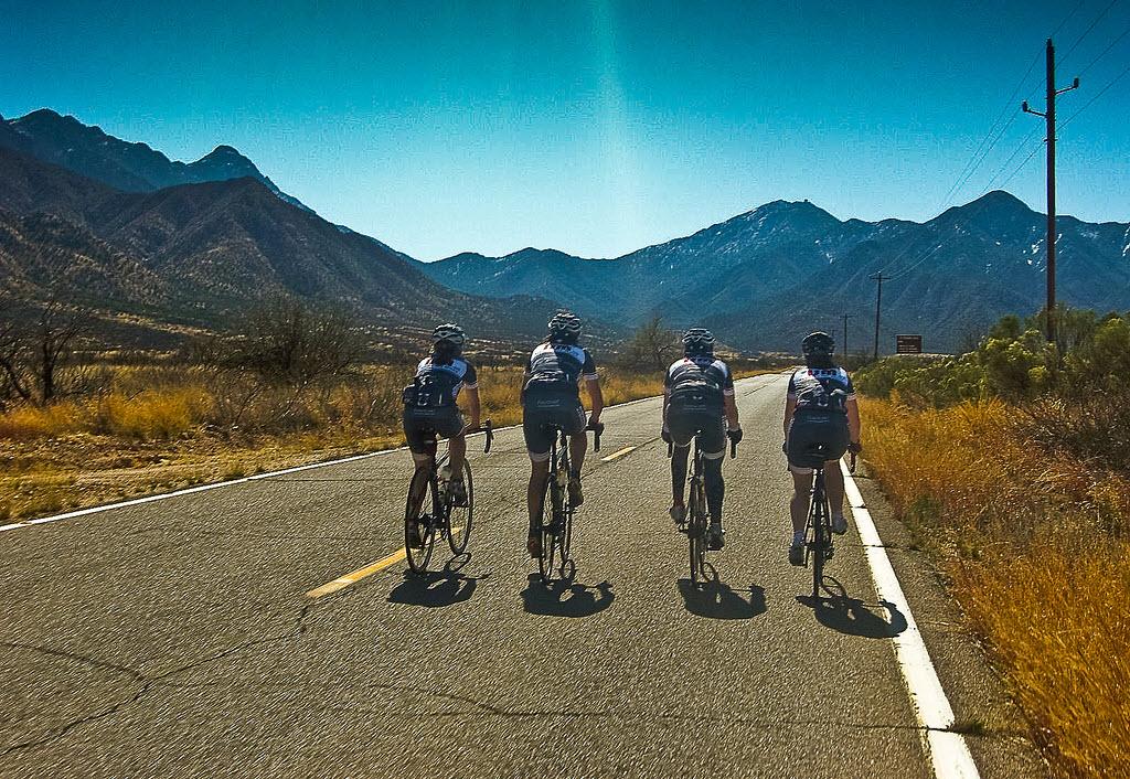 Road biking Madera Canyon